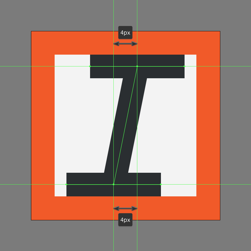 finishing off the italic icon