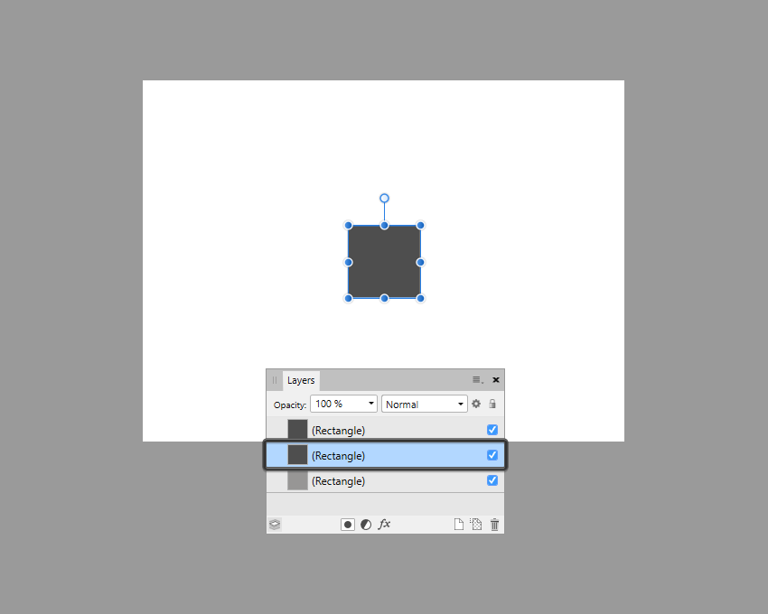 example of isolated shape in affinity designer