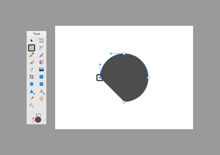 example of removing the bottom quarter of a circle in affinity designer