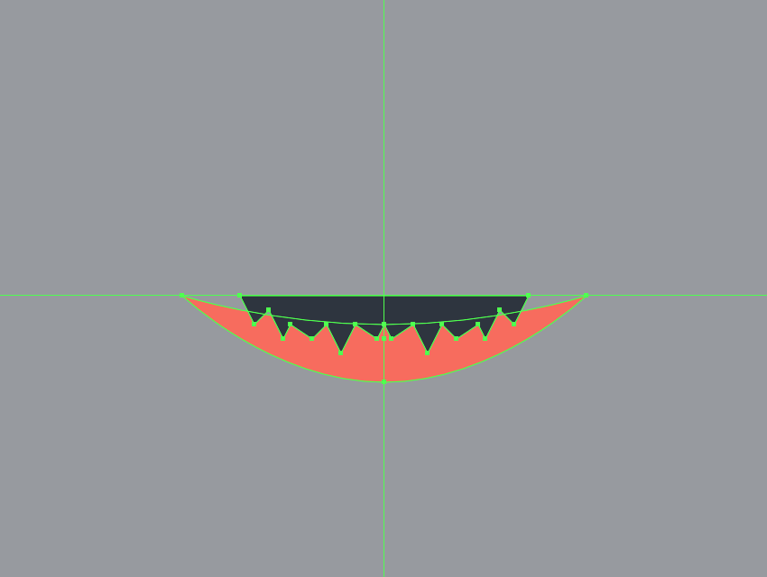 drawing the teeth