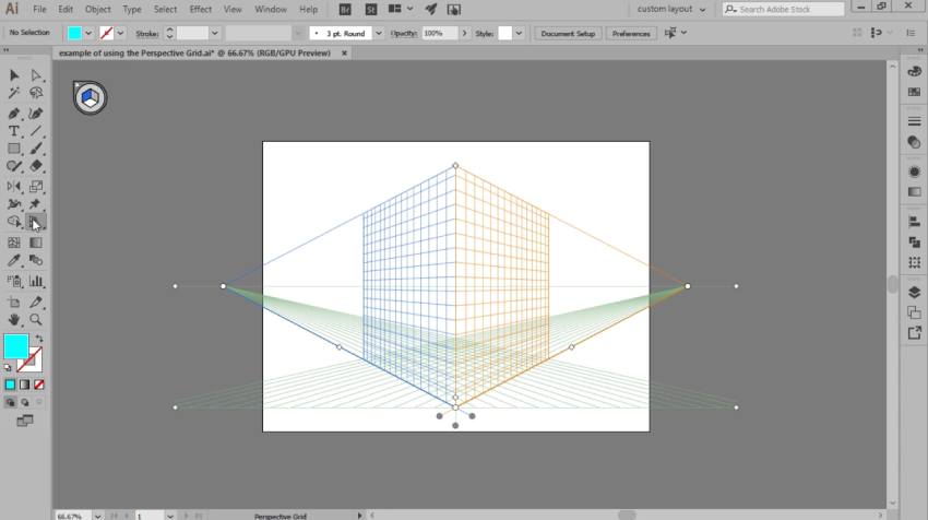 turning on the perspective grid