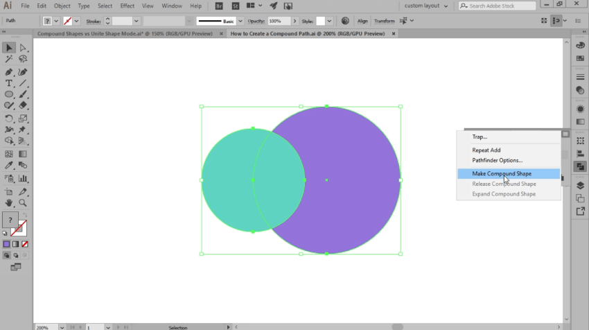 how to create a compound shape