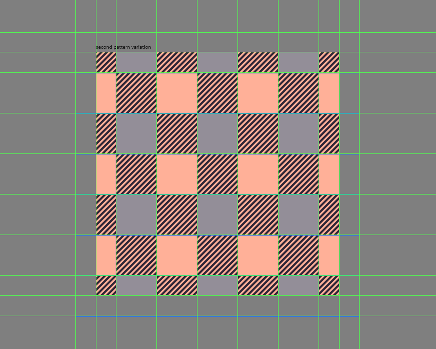 adding the remaining shapes to the second pattern