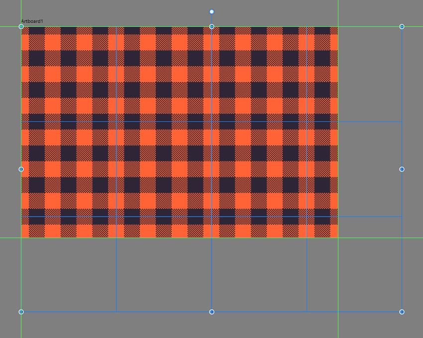 filling in the empty artboard using the pattern segments