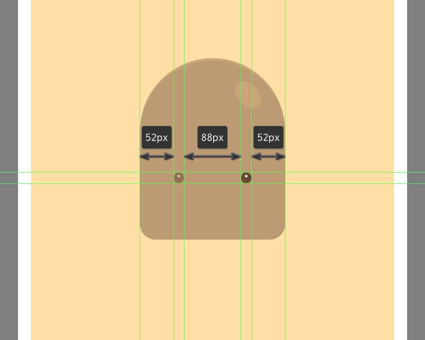 adding the right eye