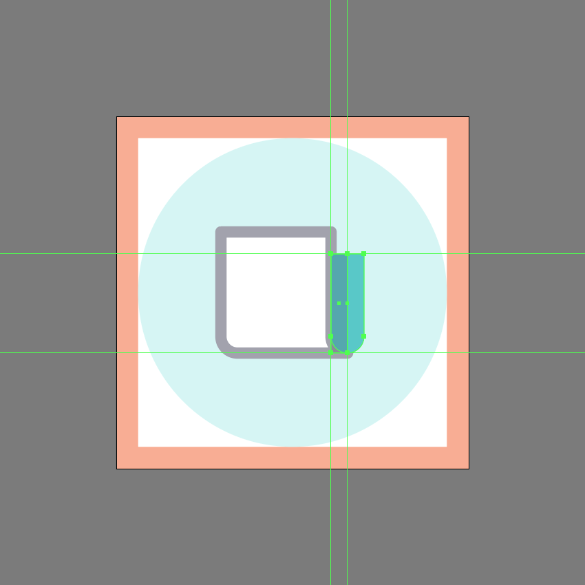 adding the shadow to the side section in ai