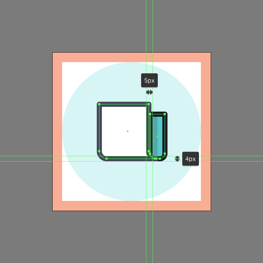 example of bad shape overlapping in ai