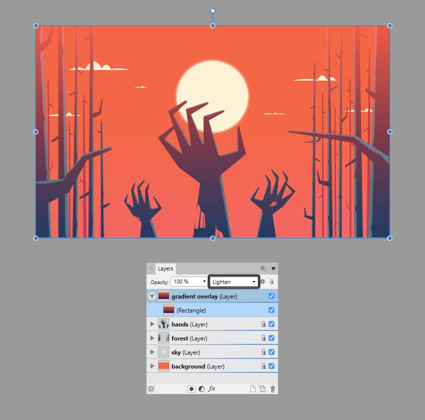 finishing off the illustration