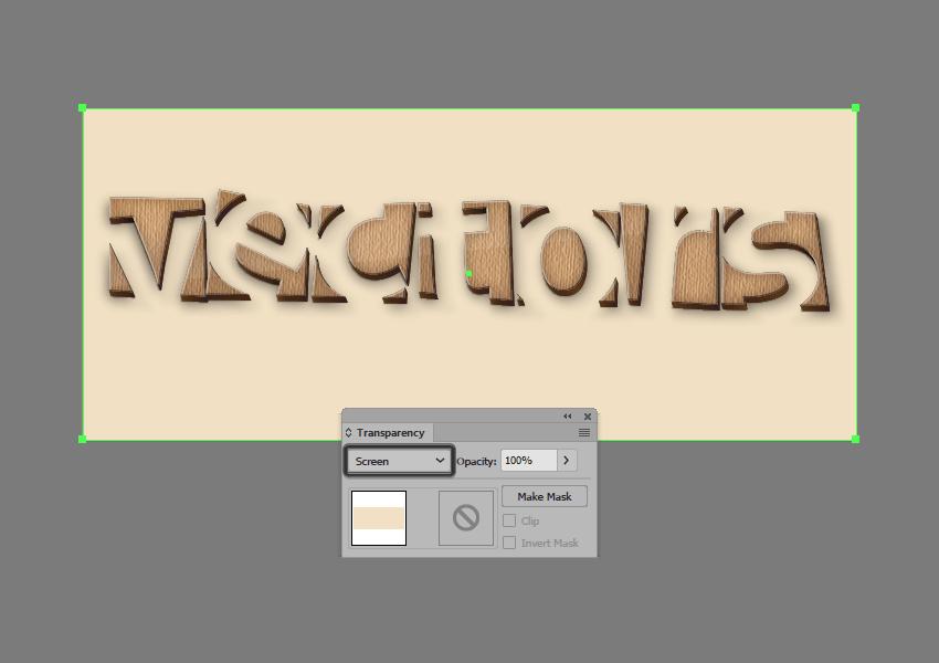 adjusting the blending mode of the background