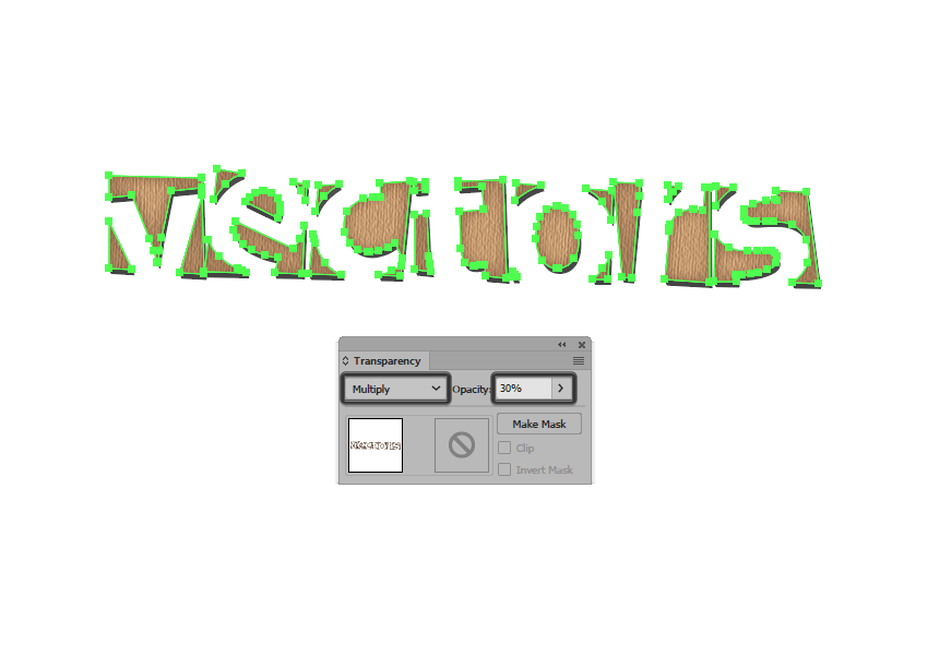 adjusting the opacity of the inner glow effect