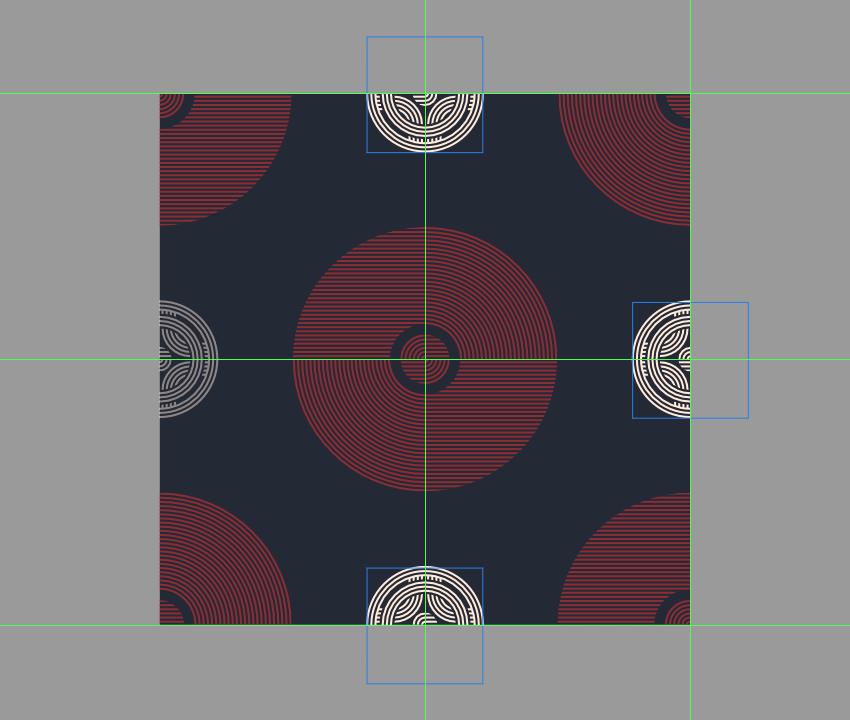 adding the remaining smaller decorative circles