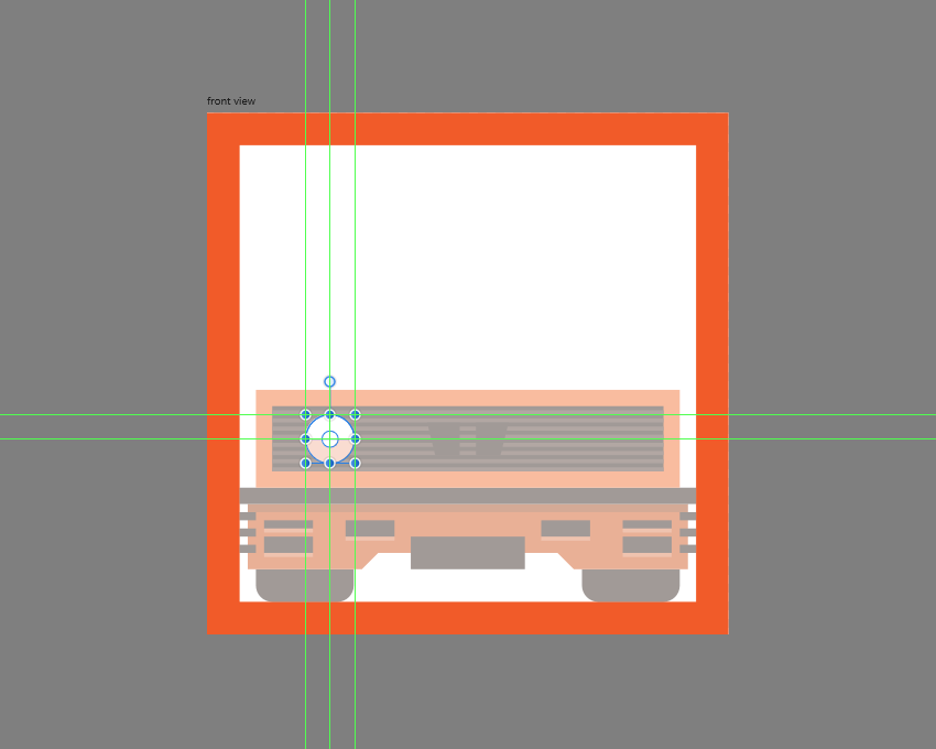 adding details to the larger headlight