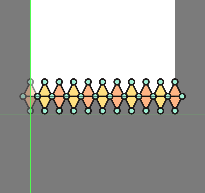 creating the first row for the third pattern