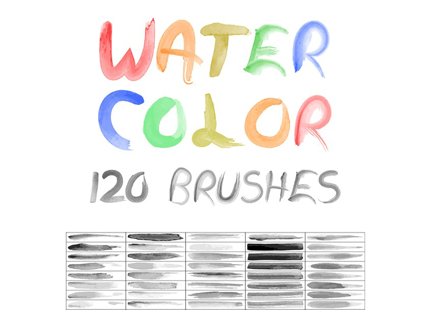 120 watercolor brushes