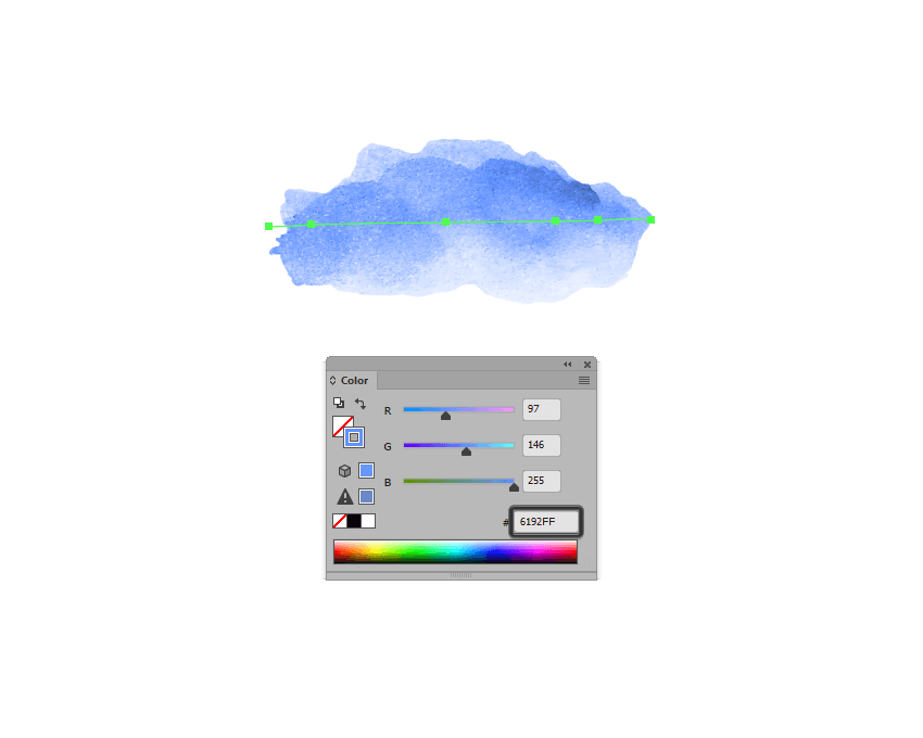changing the color of the traced watercolor brush