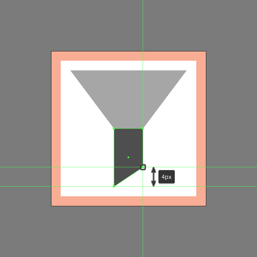 adjusting the lower section of the first icon variation