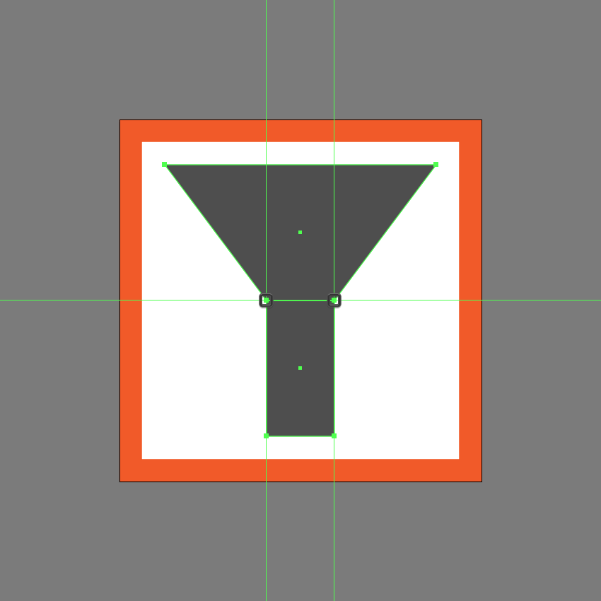 adjusting the upper section of the first icon variation