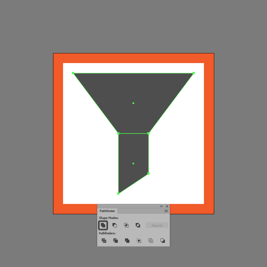 uniting the shapes of the first icon variation
