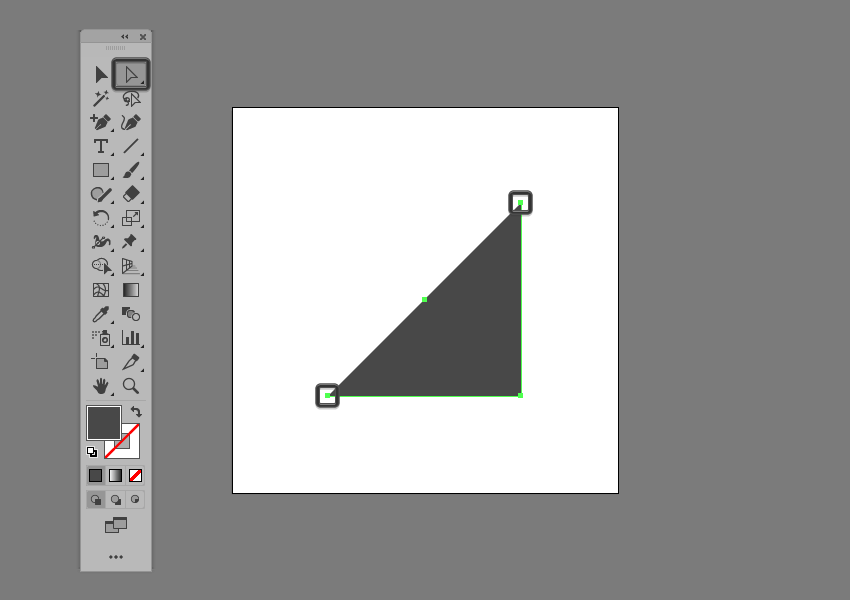 example of opening up a path in illustrator