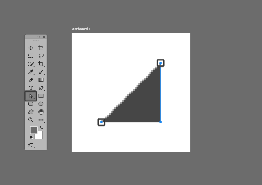 example of removing an anchor in photoshop