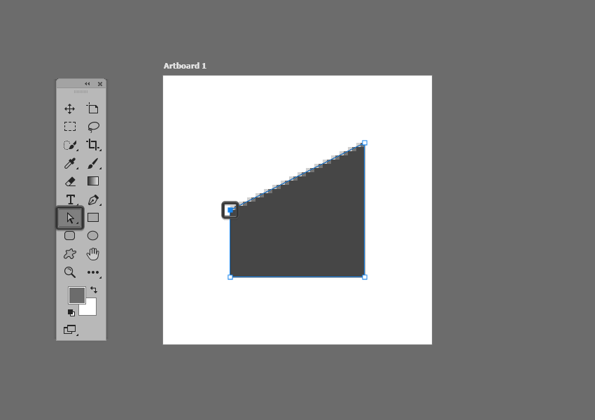 example of re positioning the anchor of a shape in photoshop