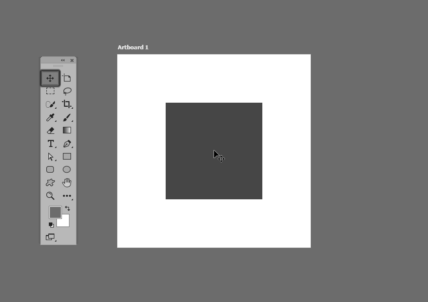 example of selecting a single shape in photoshop