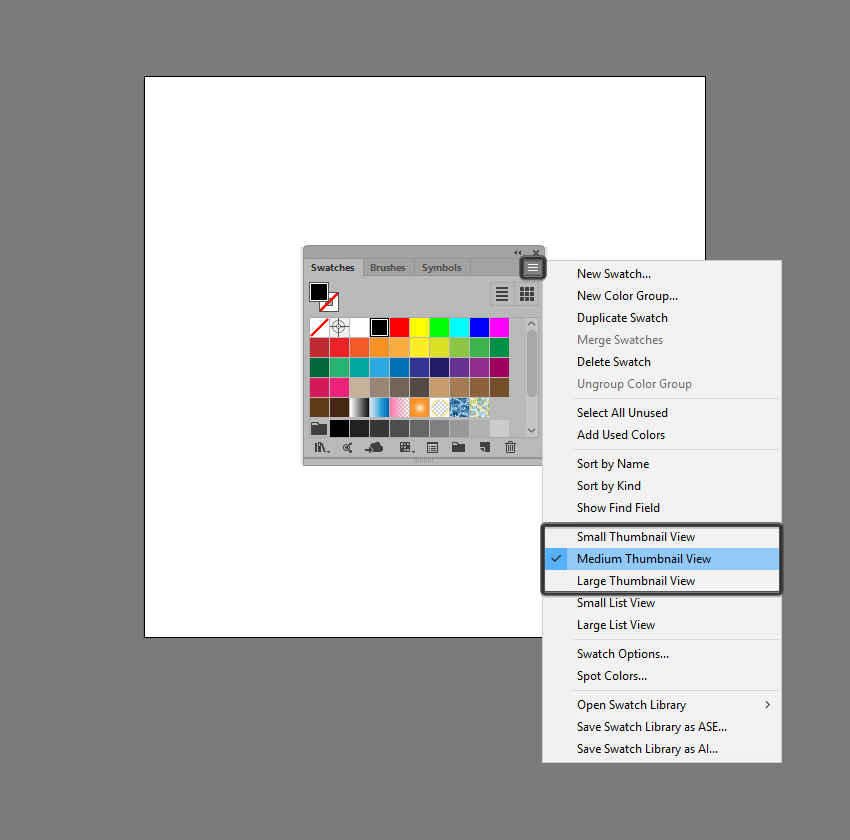 adjusting the size of the thumbnails