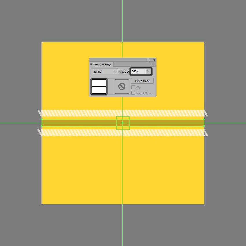 adding the center darker shape