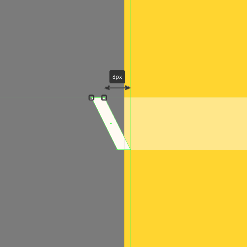 adjusting the shape of the smaller detail line