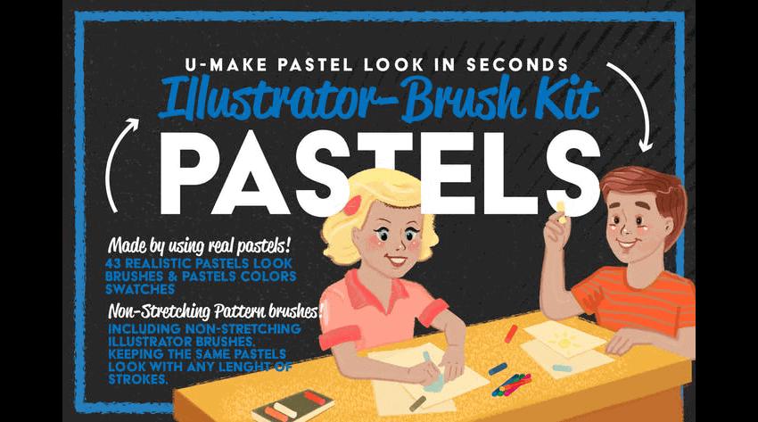 pastels brush pack