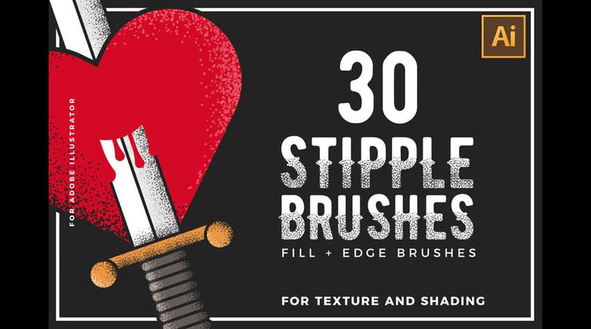 stipple brushes pack