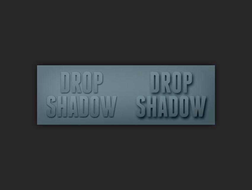 drop shadows in photoshop