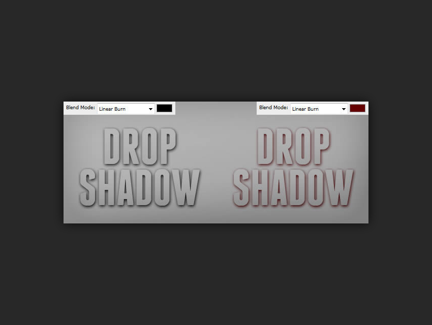 drop shadow color examples