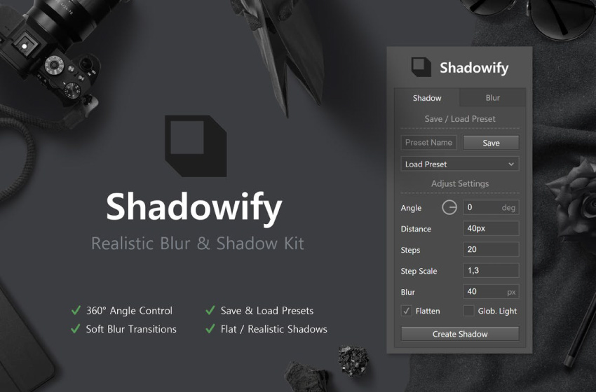 shadowify photoshop kit