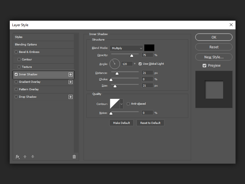 layer styles panel example