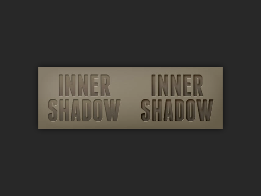 example of using an inner shadow