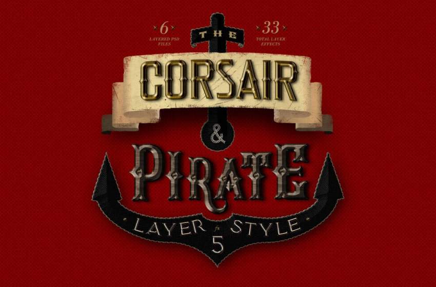 corsair and pirate layer styles
