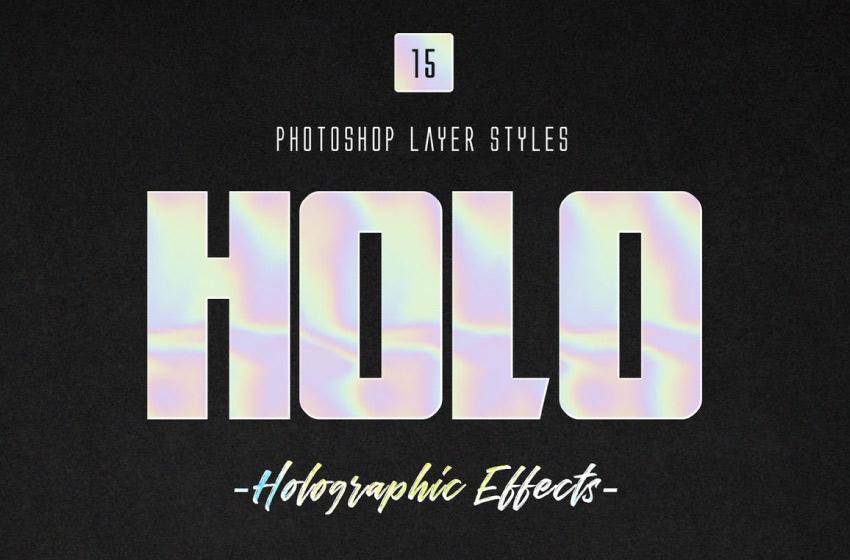 holo photoshop layer styles