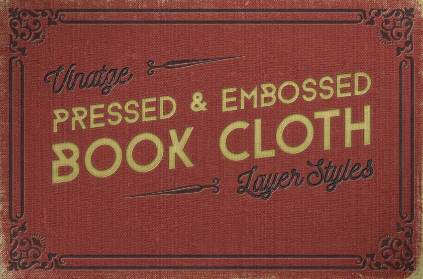 pressed and embossed book cloth layer styles