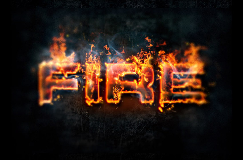 lava and fire photoshop layer styles
