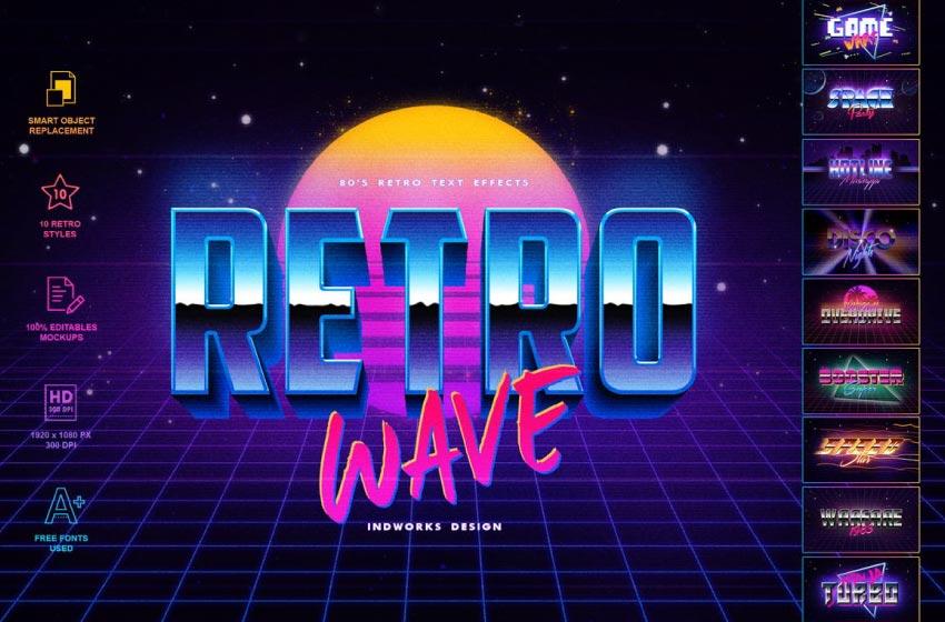 retro wave layer styles