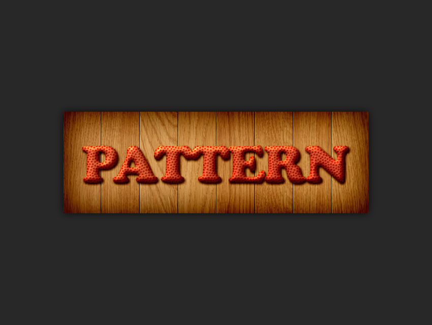 example of using a pattern overlay