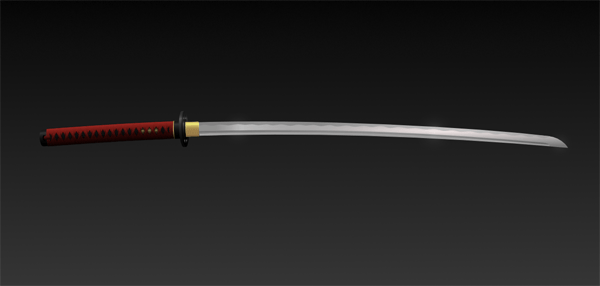 Finished katana sword