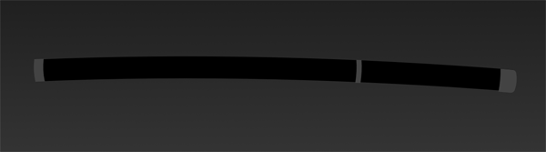 add caps to the left and right ends of the scabbard