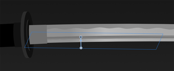 Apply the Transparency Tool to the trapezoid