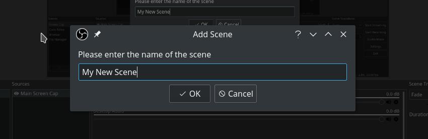 Name your scene