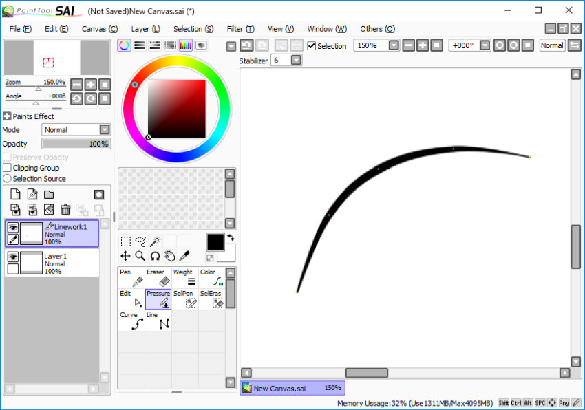how to fix stabalizer on paint sai