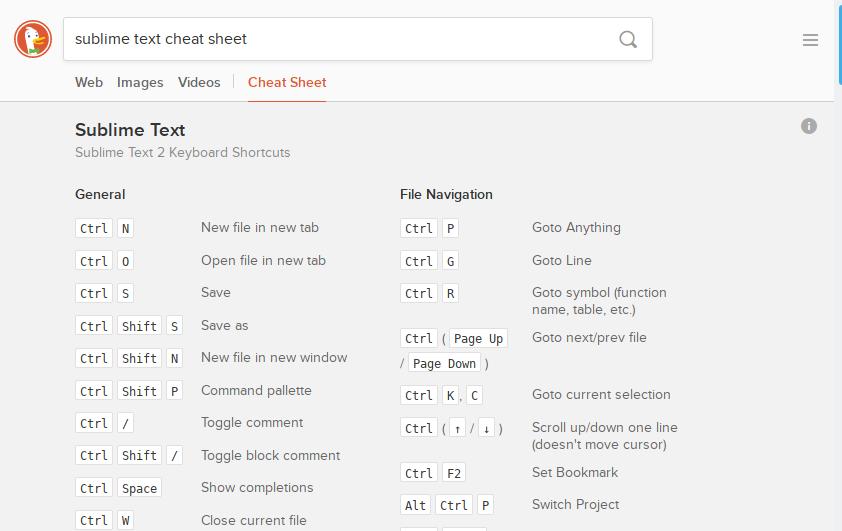 20 Handy DuckDuckGo Cheat Sheets for Web Designers