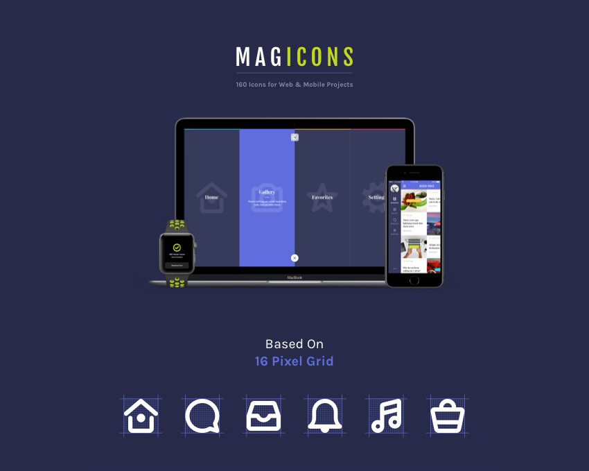 Magicons 160 Icons for Web  Mobile