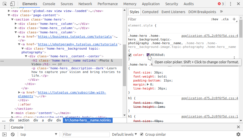 How to Use the Contrast Checker in Chrome DevTools